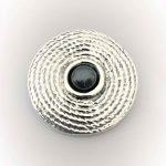 STG Silver Hematite Brooch/Pendant
