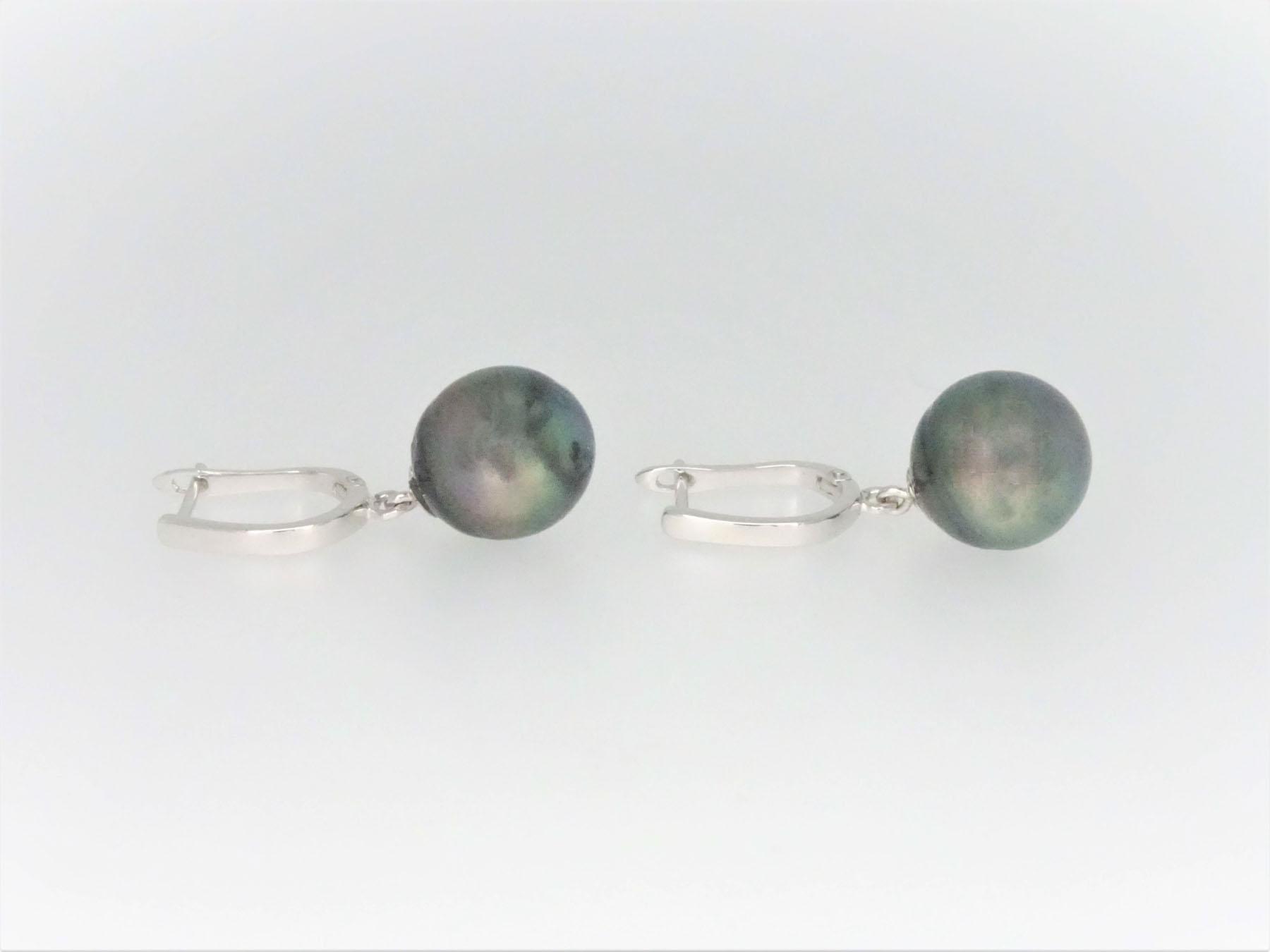 75b3ad4cc STG Silver Grey Tahitian Pearl Earrings – Luscious Finds