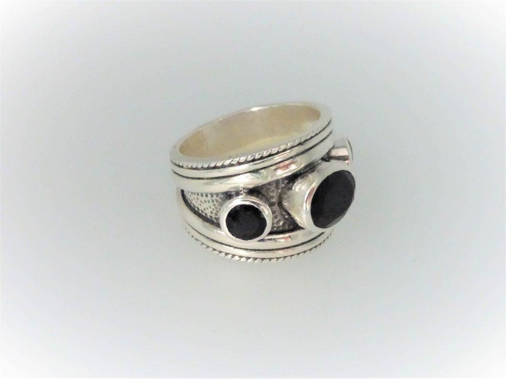 STG Silver Onyx Ring
